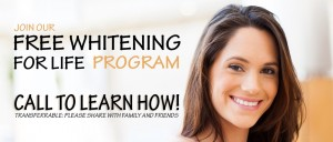 Legacy Dental offers Free teeth whitening for life